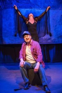 "Andres Alcala and Nelda Reyes in ""Curse of the Raven's Black Feather"" in Profile Theatre's FESTIVAL OF ONE ACTS by Sam Shepard running September 3-8, 2014. Photo by David Kinder."