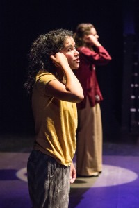 """Nelda Reyes and Beth Thompson in """"Just Space"""" in Profile Theatre's FESTIVAL OF ONE ACTS by Sam Shepard running September 3-8, 2014. Photo by David Kinder."""