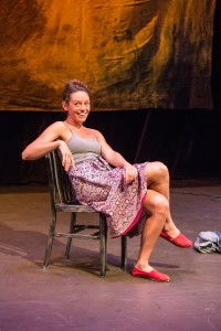 """Beth Thompson in """"Savage/Love"""" in Profile Theatre's FESTIVAL OF ONE ACTS by Sam Shepard running September 38, 2014. Photo by David Kinder."""
