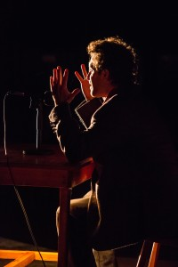 "Ty Hewitt in ""Tongues"" in Profile Theatre's FESTIVAL OF ONE ACTS running September 3-8, 2014. Photo by David Kinder."
