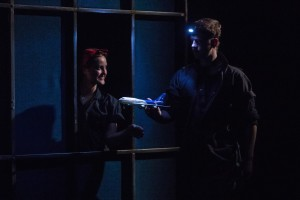 Ms. Holt with fellow intern Jake Turner in DEAD MAN'S CELL PHONE